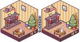 Xmas Living Room by blossomblairr