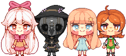 pixel doll batch by blossomblairr