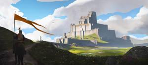 Castle sketch by Robin-Boer