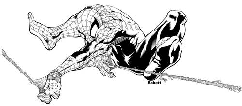 spiderman by bobett inked by gz12wk