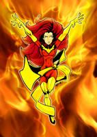 Jean Grey Phoenix colors by gz12wk