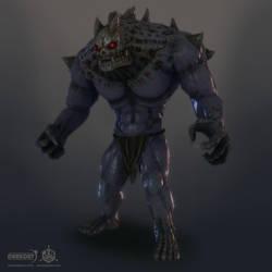 Darkout game art: Brute boss by JeroenBackx