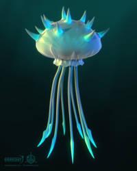 Darkout game art: Jellyfish by JeroenBackx