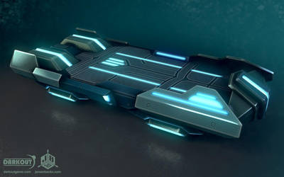 Darkout game art: Sleigh mark I (view 1) by JeroenBackx