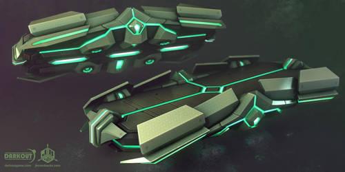 Darkout game art: Sleigh mark II by JeroenBackx