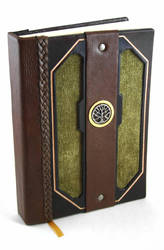 Moss Leather Journal by McGovernArts