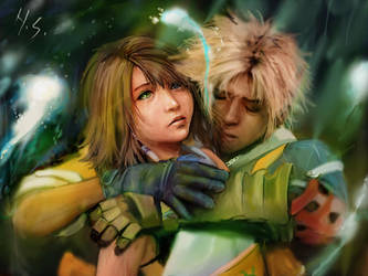 tidus and yuna by Sawma