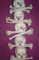pink skulls all in a row by hardcore-pink-kitty