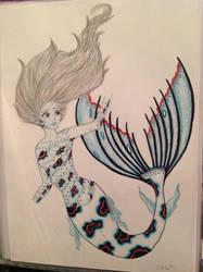 Newest re-drawn mermaid. by 10stanford