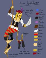 Captain Sonya Swiftfeather (FireFoxSF Redux!!) by blacklight521