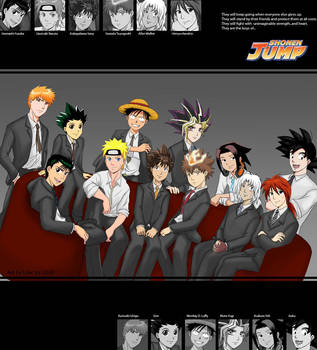 Shonen Jump Boys by laurbits