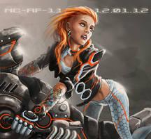 Girl-n-Bike by AspectusFuturus