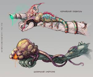 Symbiotic weapon by AspectusFuturus