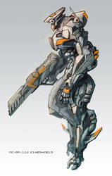 Mecha knight by AspectusFuturus