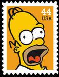 The Simpsons : Homer Stamp by dA--bogeyman