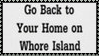 Home On Whore Island Stamp by dA--bogeyman