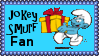 Jokey Smurf Fan Stamp by dA--bogeyman