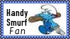 Handy Smurf Fan Stamp by dA--bogeyman
