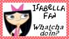 Isabella Fan Stamp by dA--bogeyman