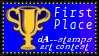 1st Place Art Contest Stamp by dA--bogeyman