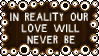 Our Love Will Never Be Stamp by dA--bogeyman