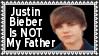 Justin Bieber Is Not My Father Stamp by dA--bogeyman