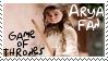 HBO Game of Thrones Arya Fan Stamp by dA--bogeyman