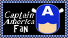 Marvel Comics Captain America Fan Stamp by dA--bogeyman