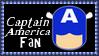 Marvel Comics Captain America Fan Stamp by dA--bogeyman