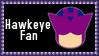 Marvel Comics Hawkeye Fan Stamp by dA--bogeyman