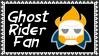 Marvel Comics Ghost Rider Fan Stamp by dA--bogeyman