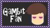 Marvel Comics Gambit Fan Stamp by dA--bogeyman