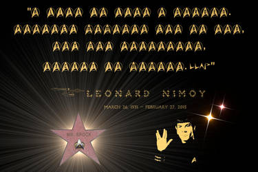 Spock Tribute by surreal1st1cp1llow