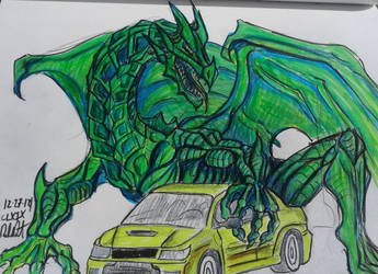 Dragon lancer Evo IX by danieldenta169