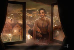Reuben at the Window by Valerhon