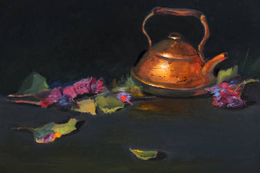 Still Life with Copper Teapot by Valerhon