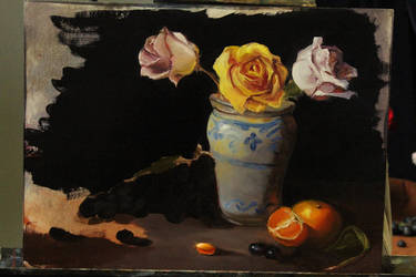 Still-life with Roses by Valerhon