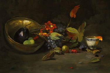 Eggplant and Juniper by Valerhon