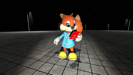 Conker with a 3DS by ParnistukisE852X