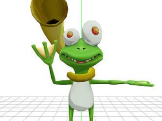 Geckomon waving Hello. by ParnistukisE852X