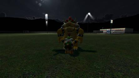 Bowser Jr hugging Bowser by ParnistukisE852X