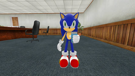 Sonic drinking a soda. by ParnistukisE852X