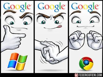 Google vs Microsoft by FF2D