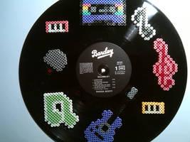 Vinylrecords - Perler beads by bGilliand
