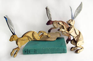 February Hares on an Adventure. by Ribena-Warrior