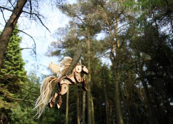 Woodland Flying Pony 2 by Ribena-Warrior
