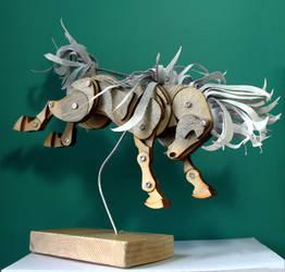 Bucking Mini Grey Articulated Pony by Ribena-Warrior