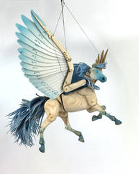 Blue Articulated Pegasus by Ribena-Warrior