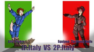Hetalia Fights: 1P vs 2PItaly by Sagealina