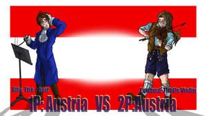 Hetalia Fight :1P Austria vs 2P Austria by Sagealina